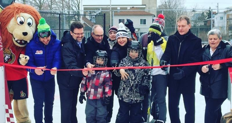 Ouverture officielle de la patinoire des Sénateurs Brookfield